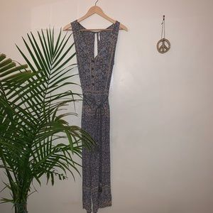 Free People Floral Jumpsuit with Rope Belt